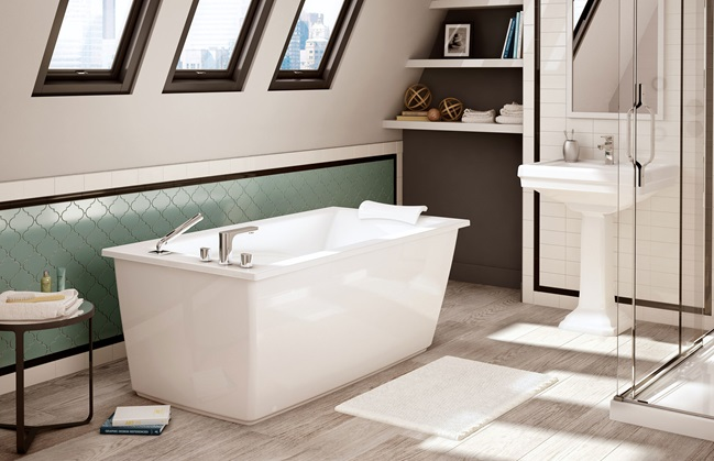 Maax Optik Soaking Tub Free Standing Soaker Bath Tub